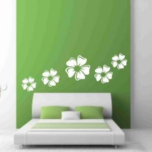 White Floral set Wall Decals for Ho..