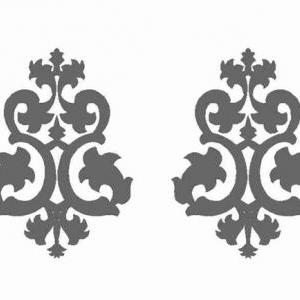 Decorative Baroque Wall Decal Set f..