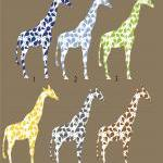 Giraffe Wall Decal with Paisley pat..