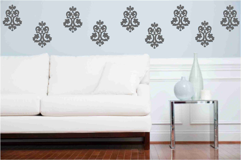 Decorative Baroque Wall Decal Set for Home