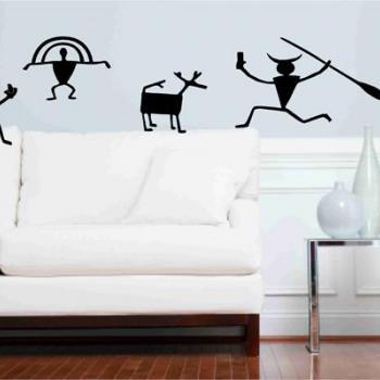 Cave Art Wall Vinyl Decals